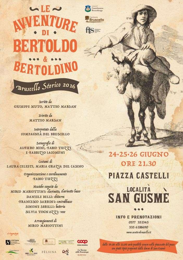 Bruscello Storico 2016 - Le avventure di Bertoldo e Bertoldino